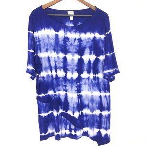 Zenergy by Chico's Molly Tie-Dye Shirt EUC